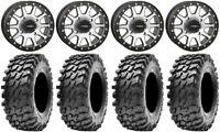 "System 3 SB-3 Machined 14"" Wheels 30"" Rampage Tires Polaris RZR XP 1000 / PRO XP"