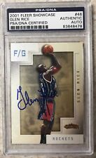 2001 Fleer Showcase Glen Rice Auto PSA Authentic Rockets