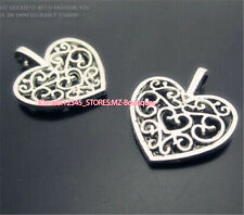 PJ322 20pc Tibetan Silver heart Charm Beads Pendant accessories wholesale