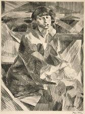Jacques Villon Reproduction: Portrait of a Seated Woman - Fine Art Print