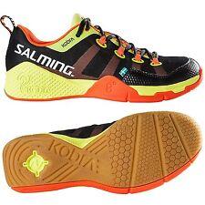 Salming Kobra Men's Indoor Court Shoes - Black/Orange - for Squash or Badminton