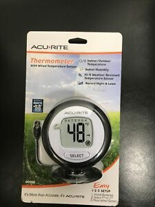 AcuRite  Digital Thermometer with 10' wired Temperature Sensor Probe & Humidity