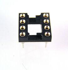 tourné broches IC Socket 8 voies (plaqué or intérieurs) 0.8CM 10 pièces ola2-05