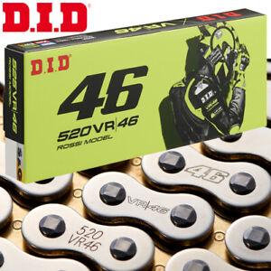 DID 520VR46 Valentino Rossi Kette 116 Rollen silber/gold Nietkette Motorrad
