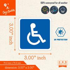"Handicap Accessibility Icon 3"" Logo Disabled Parking Symbol Vinyl Decal Sticker"