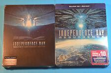 Independence Day  + Resurgence Steelbook  Bluray Italan Edition  *Region B* New