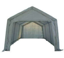 Portable Garage Carport Shelter Car Port Canopy 3m x 6m Galvanised Frame White