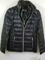 Michael Kors Womens Black Light Packable Downfill Coat with Hood NWT - Size XS