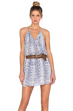 NWT $328 SM JOIE Jossa Silk Snake Skin Halter Sleeveless Dress Drop Waist Lilac