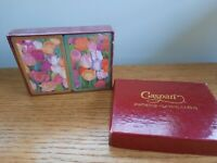 NEW VTG Caspari Imported Playing Cards TULIPS by Mary Ann Perkins 2 Decks w/ Box