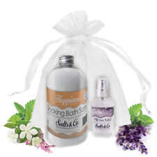 HAPPINESS & CALM – AROMATHERAPY BATH SALTS & PILLOW SPRAY GIFT SET