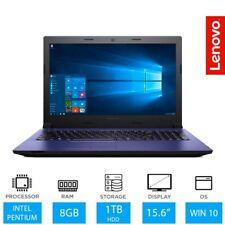 LENOVO IDEAPAD 305-151BD 15.6 LAPTOP INTEL Dual Core 8GB RAM 1TB HDD PURPLE