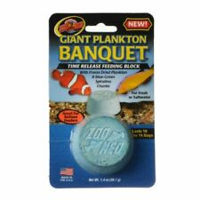 LM Zoo Med Plankton Banquet Fish Feeding Block Giant  vacation food- 1 Pack