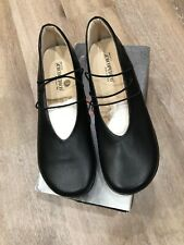 Arcopedico Rose Leather Flats Mary Jane Black Size EU 43 Sz 11 US New With Box!!