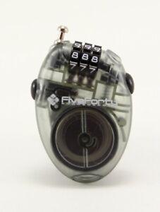 540 Mini Retractable Cable Lock Snowboard Lock, Translucent Black New