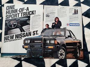 1984 Nissan ST Pickup Truck 2 Page USA Original Magazine Advertisement