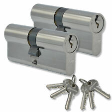 Keyed Alike 35/35 Euro Cylinder Lock Anti Bump uPVC Aluminium Door Barrel Pair
