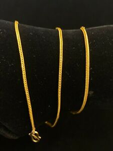 Vintage Dubai Handmade Unisex Fox Chain Necklace In 916 Solid 22K Yellow Gold