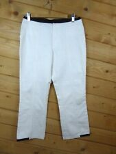 Philippe Adec Size 4 Jeans Pants Crop Cream and Black Color Block Cotton Blend