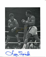 MUHAMMAD ALI and LEON SPINKS - Black and White Action Photo - SIGNED by BOTH