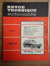 REVUE TECHNIQUE AUTO RTA 1971 CITROEN GS - RENAULT 16 TS - SIMCA 1100 spécial
