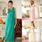 New Wedding Gowns Sequin V-shape Women Bridesmaid Evening Party Prom Maxi Dress