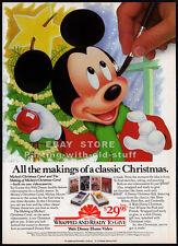MICKEY'S CHRISTMAS CAROL__Original 1984 Print AD / video promo__Walt Disney