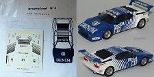 DECAL TRANSKIT GRAPHYLAND 1/43 BMW M1 DENIM #81 HANS HEYER PROCAR 1980
