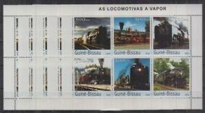 Y458. 5x Guinea-Bissau - MNH - Transport - Trains - Steam - 2003