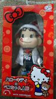 Used Hello Kitty x Peko chan Plush Doll Figure Sanrio Fujiya Collaboration Cute