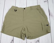 Columbia Titanium Omni Dry Green Outdoor Hiking Shorts Women Size Large