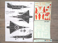"MIRAGE-5  ""BELGIAN BR-15 MEPHISTO"" DACO PRODUCTS DECALS 1/72-48"