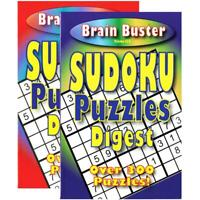 Brain Teasing Sudoku Puzzle Book Digest Size