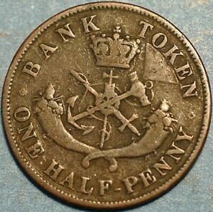 1/2 Penny 1852 Bank of Upper Canada Provinces P527