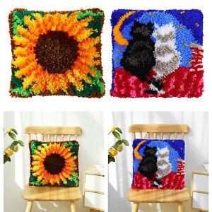 Riegelhaken Kits für DIY Sofakissen Matte Teppich Gobelin, die Quadrat mit