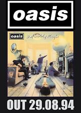 TWO Oasis Definitely Maybe Posters-Limited Edition-Liam Gallagher+FREE PRINT