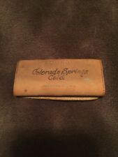 Vintage Colorado Springs Colorado Leather Case Key Fob Holder Pikes Peak Pouch