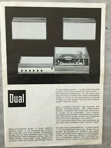 Werbeprospekt: DUAL Stereo-Komponenten (Original)