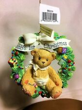 Cherished Teddies Ornament 2002 Babys 1st Christmas Nib