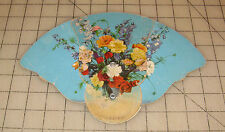 Vintage ARNOLD FUNERAL HOME Lebanon, PA Pull-Out Hand Fan, FLOWER DESIGN