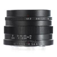 Zonlai 22mm f1.8 APS-C Ultra Weitwinkel Objektiv für Sony E schwarz Aluminium