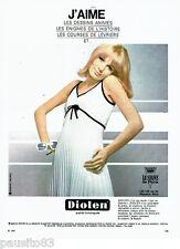 PUBLICITE ADVERTISING 046  1966  Diolen  robe  Heko