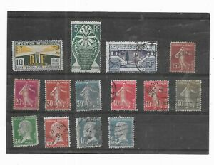 FRANCE 1925-1926. SELECTION OF 14. FINE USED. AS PER SCAN