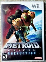 Metroid Prime 3: Corruption (Nintendo Wii, 2007) *TESTED & WORKING* *CIB*
