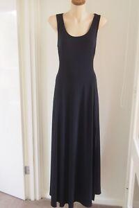 MICHAEL KORS  Navy Blue Split Leg Maxi Dress  Size XL / 16  EXCELLENT CONDITION
