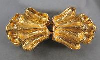 Vintage 1972 Mimi di N Princess Niscemi 2-pc belt buckle gold-tone double shells
