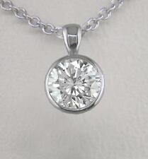 0.50ct Diamond Solitaire Brilliant & Platinum Pendant Certified D IF Exc & Chain