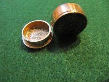 UNIQUE HANDCRAFTED SARAWAK 1930S 1 CENT COPPER COIN SNUFF BOX/ PILL BOX