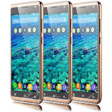 "Gold 5.5"" Unlocked Android Cell Phone T-Mobile Net10 Quad Core Dual SIM 3G GSM"