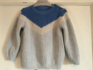 Baby Boys Grey Mix Long Sleeved Jumper from Marks & Spencer Age 2 years
